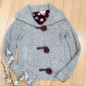 Anthropologie HWR Mormor Pom Pom sweater jacket, M